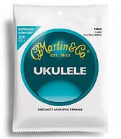 Струны для укулеле  MARTIN M600 Ukulele Clear Fluorocarbon Soprano/Concert