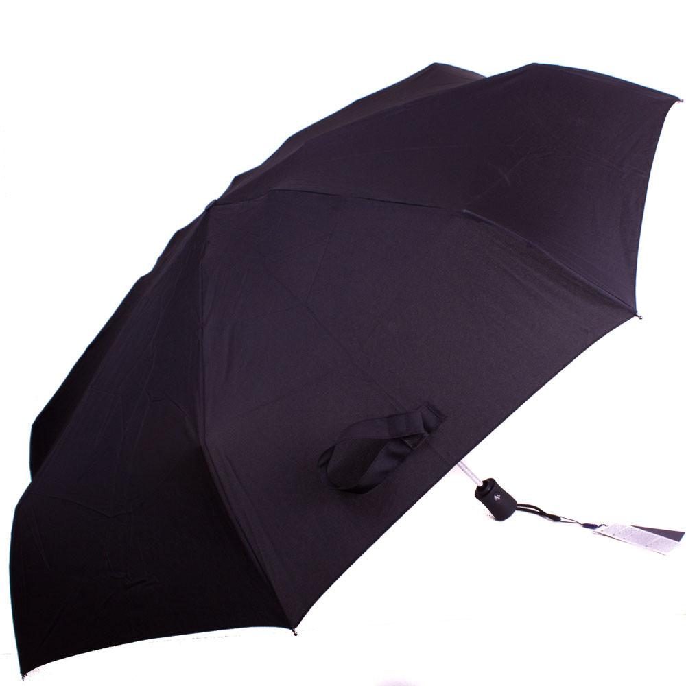 Зонт мужской компактный автомат ZEST (ЗЕСТ) Z14950 черный, антиветер