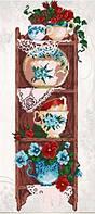 Схема для вышивки бисером Полочка на кухню