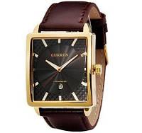 Мужские часы CURREN 8117 Gold & Black черно-золотые