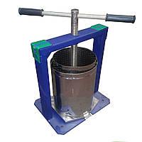 Домашний пресс для винограда 20л, винтовой, ручной привод, нержавейка, внутренний d 260 мм