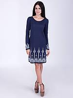 Вязаное платье с рисунком