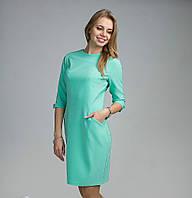 Модное женское платье ментолового цвета