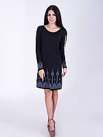 Черное платье для офиса, фото 1