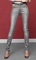Женские узкие джинсы серого цвета из хлопковой ткани. Модель Robena Zaps.