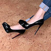 Туфли женские на шпильке Vices Miledi черный лак