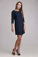 Классическое женское платье синего цвета