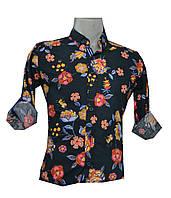 Рубашка мужская цветы