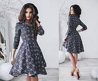 Платье женское на пуговицах с асимметричной юбкой