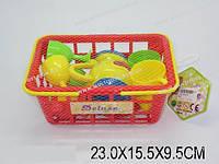 Набор посуды в корзинке, в сетке 23х15х9 /72-2/(A24)