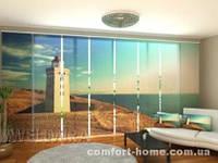 Панельная штора Маяк на побережье Дании комплект 8 шт