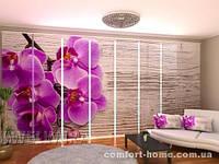 Панельная штора Орхидея и дерево 2  комплект 8 шт