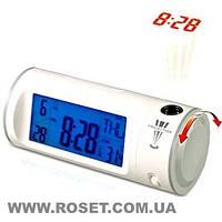 Часы цыфровые-проектор, с проекцией времени, подсветкой и ЖК-дисплеем - CHAOWEI