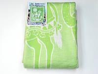 Хлопковое одеяло в роддом (зеленое с верблюжонком)
