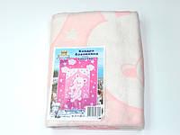 Хлопковое одеяло в роддом (нежно-розовое мишка с мишкой)