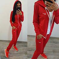 """Женский стильный спортивный костюм """"Nike"""": кофта на змейке и штаны (3 цвета)"""
