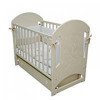 Детская кроватка Верес Соня ЛД8 слоновая кость Мишка со стразами