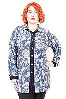 Рубашка женская большого размера Кора Орнамент, одежда больших размеров, дропшиппинг украина