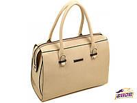 Бежевая женская модельная сумка PD 0865 (новинка весна, осень, лето)