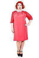 Платье большого размера Лиана гипюр, дропшиппинг, летнее платье большого размера, недорого