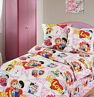 """Набор постельного белья детский в кроватку и подростковый """"Милашки"""""""