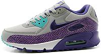 Женские кроссовки Nike Air Max 90 Premium (найк аир макс 90) серые