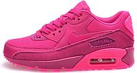 Женские кроссовки Nike Air Max 90 Premium (найк аир макс 90) розовые