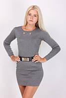 Модная женская туника серого цвета