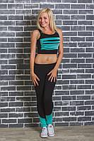 Костюм спортивный женский топ+штаны мята, фото 1