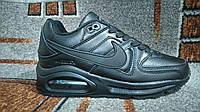 Подростковые женские городские кроссовки NIKE Air аирмакс полностью черные