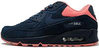 Женские кроссовки Nike Air Max 90 (найк аир макс 90) синие
