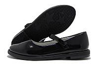 Туфли для девочки Kimbo-o с ремешком черные лаковые 27-32р.