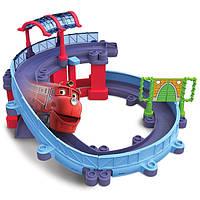 Игровой набор Станция техосмотра и паровозик Вилсон Chuggington Die-Cast Tomy LC54237