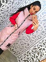 Женская модная удлиненная жилетка с карманами и капюшоном (2 цвета)