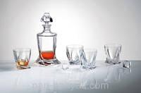 Quadro Набор для виски (графин 850мл+ стакани 340мл-6шт) 7 предметов богемское стекло Bohemia