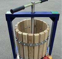 Пресс для приготовления сыра и сока Богатырь 25 л: кадка дуб, корпус металл, корзина 27х50 см, 40х45х56 см