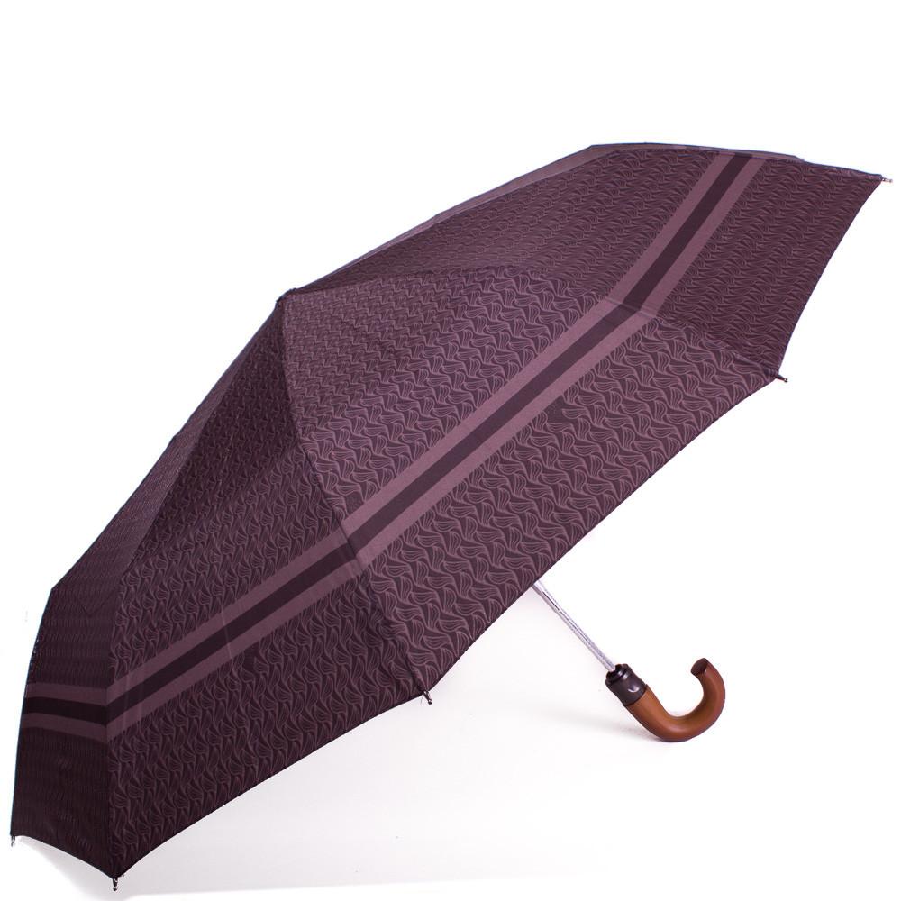 Зонт мужской полуавтомат ZEST (ЗЕСТ) Z43662-3 коричневый, антиветер