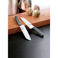 Популярный кухонный нож для нарезки Victorinox SwissClassic Santoku 68503.17 черный