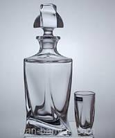 Quadro Набор для ликеру (графин 457мл+ стопки 50мл-6шт) 7 предметов богемское стекло Bohemia