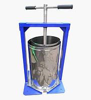 Ручной пресс для сока Богатырь 25 л: винтовой, корзина 27х50 см из нержавейки, поддон, 29 кг