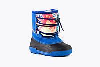 Детские сапоги на мальчика Alisa LINE Freestyle синие (Бесплатная доставка) р.32-37