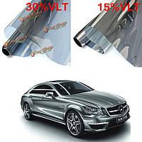 15% 30% 6mx76cm LVT автомобиль авто оконное стекло Пленка для тонирования тонировка рулон серебряное зеркало