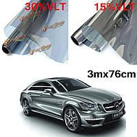 15% 30% 3mx76cm LVT автомобиль авто оконное стекло Пленка для тонирования тонировка рулон серебряное зеркало