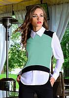 Офисная женская блузка 2 в 1