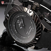 Мужские часы Shark Goblin Black 3D Digital LED Dual Time Date Silicone Quartz Sport Watch