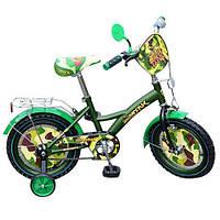 Детский велосипед, 14 дюймов с дополнительными колесами (PT1433)