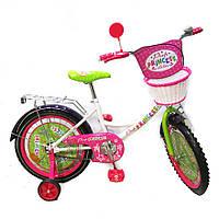 Детский велосипед, 14 дюймов с дополнительными колесами (PP1452)