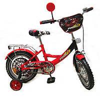 Детский велосипед 14 дюймов, с дополнительными колесами (PO1442)
