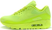 Женские кроссовки Nike Air Max 90 Hyperfuse (найк аир макс 90) салатовые
