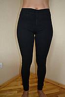 Джинсы женские черные без застежки